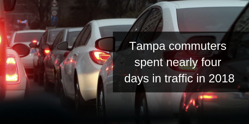 Tampa commuters spent nearly four days in traffic in 2018 - Brooks Law Group