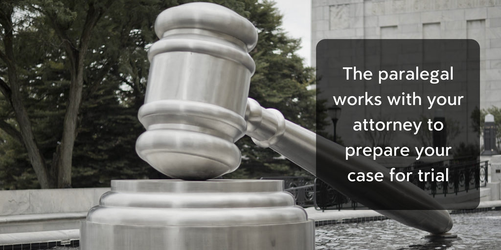 What does your paralegal do for your case? Litigation Prep - Brooks Law Group
