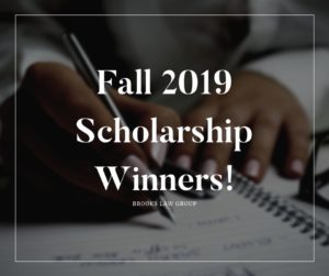Fall 2019 Scholarship Winners!