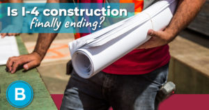 I-4 construction worker with project plans